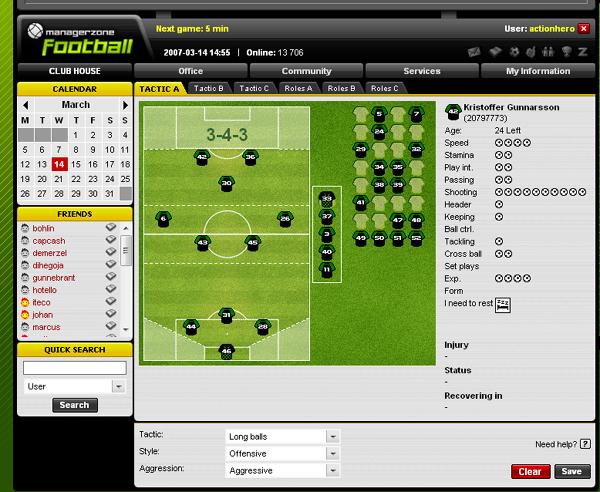 giochi manageriali calcio  gratis