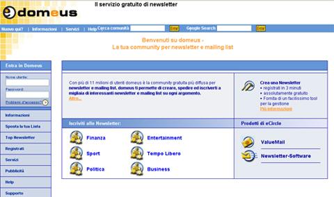 266fb8f1d3 Tra i vari servizi che offre questo sito c'è anche quello che permette di  creare, gestire ed inviare la propria newsletter. Gratuitamente è possibile  ...