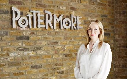La scrittrice britannica J. K. Rowling