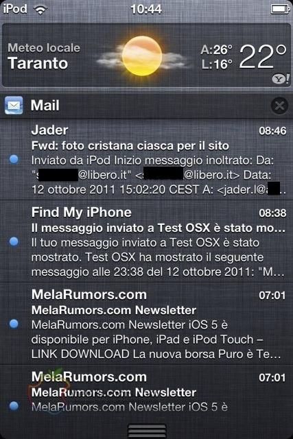 Nuovo sistema di notifiche con iOS 5