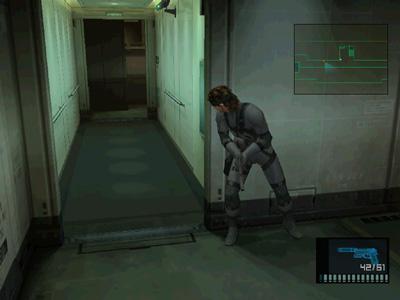 Una fase di gioco di Metal Gear Solid 2